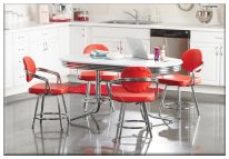 Red and White Deluxe Retro Dining Set