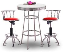 Chrome Table with Barstools